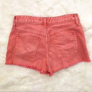Free People Shorts - Free People   coral/melon denim cutoff shorts